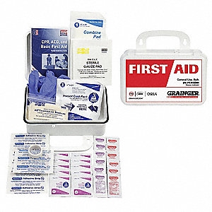 First Aid Kit, Kit, Plastic Case Material, Industrial, 25 People Served Per Kit