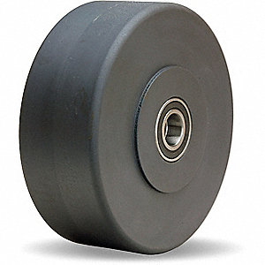 "10"" Caster Wheel, 8200 lb. Load Rating, Wheel Width 3"", Nylon, Fits Axle Dia. 1-1/4"""