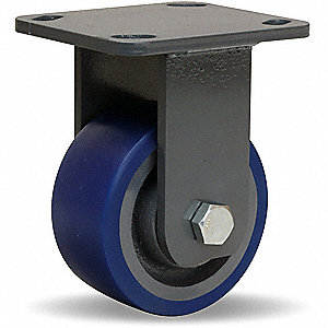 "4"" Light-Medium Duty Rigid Plate Caster, 600 lb. Load Rating"