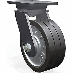 "8"" Heavy-Duty Swivel Plate Caster, 4000 lb. Load Rating"
