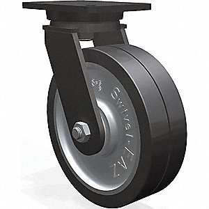 "10"" Heavy-Duty Swivel Plate Caster, 4000 lb. Load Rating"