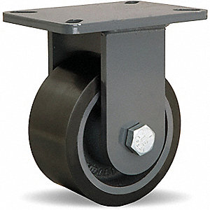 Plte Caster,Rgd,Poly,6 in.,2860 lb.