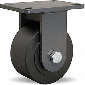 "6"" Heavy-Duty  Rigid Plate Caster, 5400 lb. Load Rating"