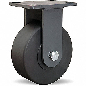 "8"" Extra Super Duty Rigid Plate Caster, 6000 lb. Load Rating"