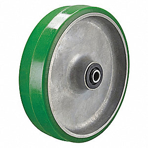 "4"" Caster Wheel, 600 lb. Load Rating, Wheel Width 1-1/2"", Polyurethane, Fits Axle Dia. 3/4"""