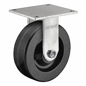 "5"" Medium-Duty Rigid Plate Caster, 1000 lb. Load Rating"