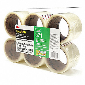 Carton Sealing Tape,50m L,72mm W,PK6