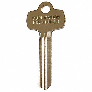 Key Blank, Standard, F Keyway, 1/2in.