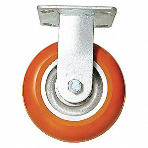 "6"" Medium-Duty Rigid Plate Caster, 1000 lb. Load Rating"