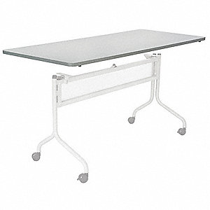 "Rectangle Training Tabletop, Gray, 72""W x 24"" Depth"