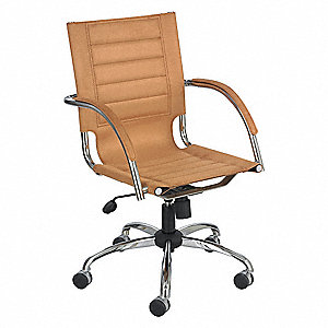 "Mgr Chair,Microfiber,Camel,18-21""Seat Ht"