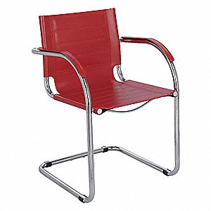 Flaunt Guest Chair,Recycled Leather,Red