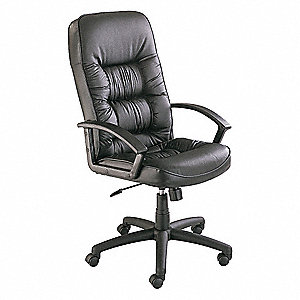"Exec Chair,Leather,Black,21-21"" Seat Ht"