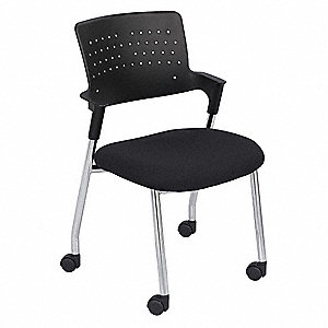 Spry Guest Chair,Sculpted Foam,Black,PK2