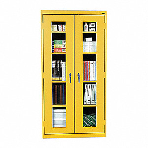 Storage Cabinet,72 in.,Steel,Yellow
