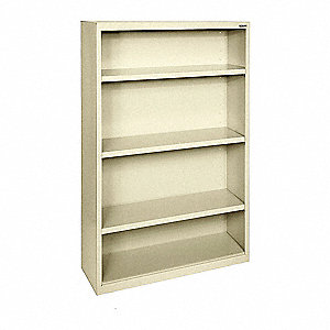 "34"" x 12"" x 60"" Elite Series Bookcase with 3 Shelves, Putty"
