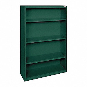 "34"" x 12"" x 60"" Elite Series Bookcase with 3 Shelves, Green"