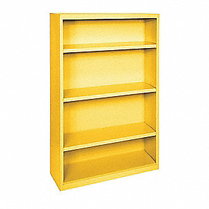 Bookcase,Vertical,Elite,3,Yellow,Steel