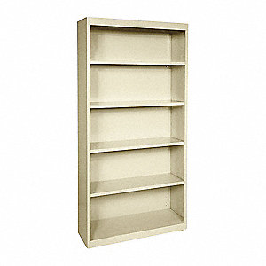 "34"" x 12"" x 72"" Elite Series Bookcase with 4 Shelves, Putty"