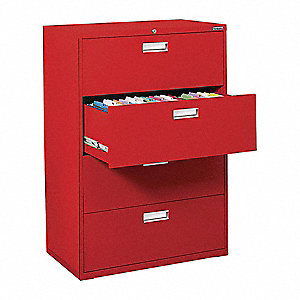 Cabinet,36 x 53-1/4 x 19-1/4 In,Red