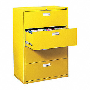 Cabinet,36 x 53-1/4 x 19-1/4 In,Yellow