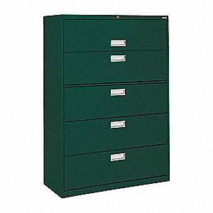 Cabinet,36x66-3/8x19-1/4 In,Forest Green