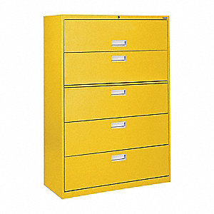 Cabinet,36 x 66-3/8 x 19-1/4 In,Yellow