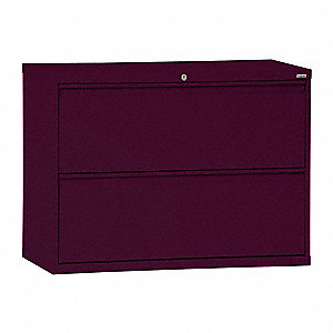 "30"" x 19-1/4"" x 28-3/8"" 2-Drawer 800 Series File Cabinet, Burgundy"