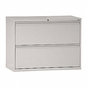 "30"" x 19-1/4"" x 28-3/8"" 2-Drawer 800 Series File Cabinet, Dove Gray"