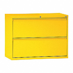 "42"" x 19-1/4"" x 28-3/8"" 2-Drawer 800 Series File Cabinet, Yellow"