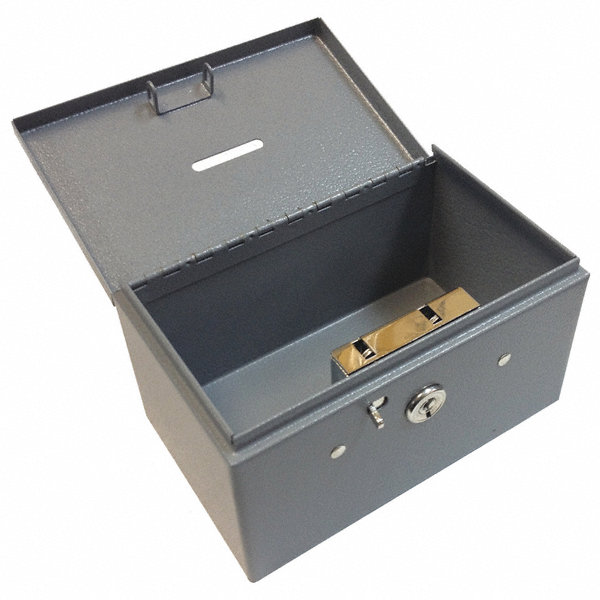 buddy products stamp and coin box steel dble latch lock 49j393 0505