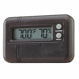 Digital Thermo Hygrometer,-10 to 60 F