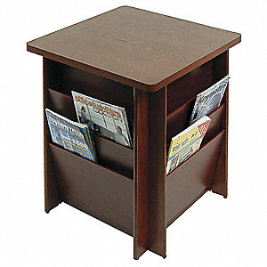 Table with Literature Rack,Floor,21 in.