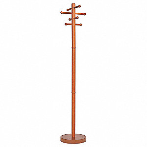 Coat Tree,Stand Alone,Wood,Cherry