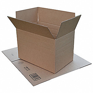 "Shipping Carton, Kraft, Inside Width 11-1/4"", Inside Length 17-1/4"", Inside Depth 6"", 65 lb., 1 EA"