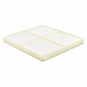 "Air Filter, Panel, 21/32"" Height, 7-29/32"" Length"