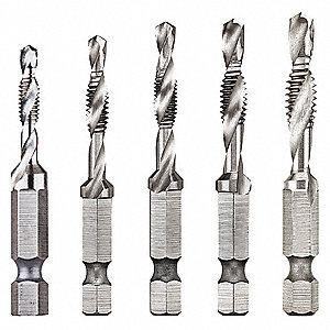 DEWALT High Speed Steel Drill Tap Set, Bright Finish