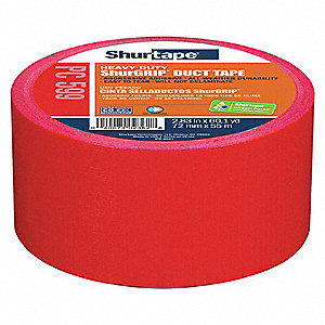 Industrial Duct Tape, 72mm X 55m, 9.00 mil Thick, Red Coated Cloth, 1 EA