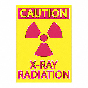 Radiation Sign,Aluminum,10 in. H,English