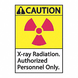 "Radiation and X-Ray, Plastic, 10"" x 7"", Surface"