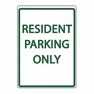 Parking Sign,Resident Parking Only