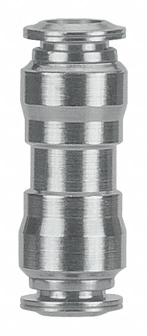 AIGNEP USA 60040-6 Push-In Fittings Union 6 mm Tube Stainless Steel