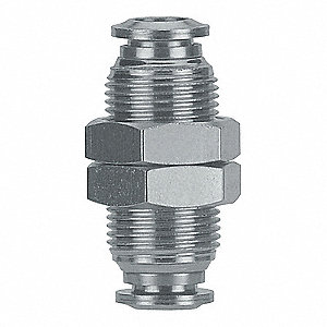 "1/4"" Stainless Steel Male Connector, Silver"