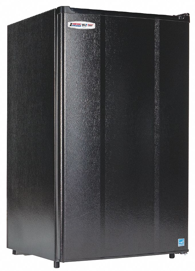 Refrigerator, Residential, Black, 18 5/8 in Overall Width, 3.3 cu ft Refrigerator Capacity