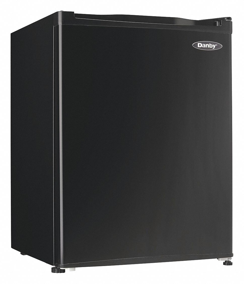 Refrigerator, Commercial/Residential, Black, 18 5/8 in Overall Width