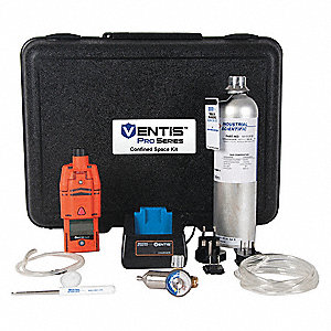 "Multi-Gas Detector Kit, Orange, 67"" W"