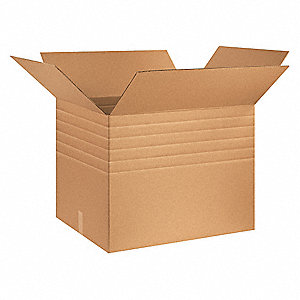 "Multidepth Shipping Carton, Kraft, Inside Width 24"", Inside Length 30"", Inside Depth 24"", 95 lb."