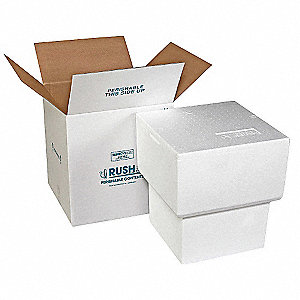 "White Shipper and Carton, 19-1/2""D x 17-3/4""W x 17-3/4"" L , Holds :5 gal. Bucket"