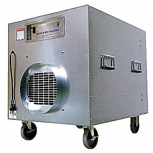 Negative Air Machine, 1-1/2 HP, 115 Voltage, 13.8 Amps, 1000 to 2000 cfm