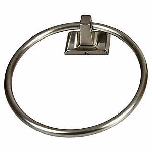 "7""H x 1-5/8D Satin Nickel Towel Ring, Sunglow Collection"